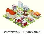 modern isometric buildings...   Shutterstock .eps vector #1898095834
