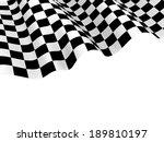 checkered race flag. racing...   Shutterstock . vector #189810197