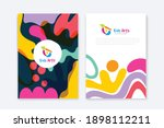 kids arts logo and stationery... | Shutterstock .eps vector #1898112211