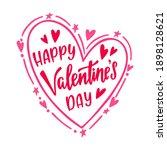 happy valentine's day. hand... | Shutterstock .eps vector #1898128621