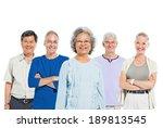 Mullti Ethnic Senior Group Of...