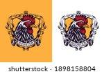 rooster mascot sport logo... | Shutterstock .eps vector #1898158804