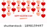happy st. valentines day card... | Shutterstock .eps vector #1898159497