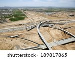Construction of new interchange at Interstate 10 and the 303 Freeway - stock photo