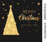 golden text merry christmas and ... | Shutterstock . vector #1898192311