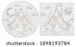 set of contour illustrations in ... | Shutterstock .eps vector #1898193784