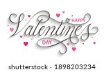 happy valentine's day black... | Shutterstock .eps vector #1898203234