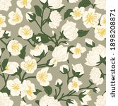 Seamless Pattern Of Blossomed...