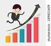businessman run in a growth... | Shutterstock .eps vector #189821609