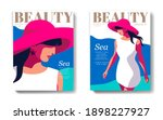 two variants of fashion... | Shutterstock .eps vector #1898227927