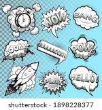 comic speech bubbles black and... | Shutterstock .eps vector #1898228377