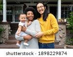beautiful multiethnic family... | Shutterstock . vector #1898229874