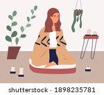 woman meditating in cross...   Shutterstock .eps vector #1898235781