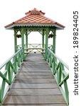 the vintage wooden gazebo... | Shutterstock . vector #189824405