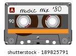 orange musiccasette  cassette... | Shutterstock .eps vector #189825791