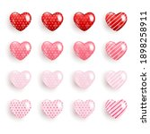 realistic valentine heart icon... | Shutterstock .eps vector #1898258911