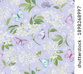 seamless watercolor white... | Shutterstock .eps vector #1898268997