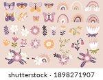 butterflies  rainbows and... | Shutterstock .eps vector #1898271907