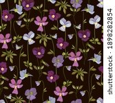 floral seamless pattern with... | Shutterstock .eps vector #1898282854