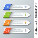arrow infographic template with ... | Shutterstock .eps vector #1898283451