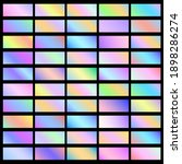 holographic banners horizontal... | Shutterstock .eps vector #1898286274