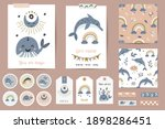 set of cards  notes  stickers ... | Shutterstock .eps vector #1898286451