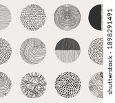 round abstract black icons.... | Shutterstock .eps vector #1898291491