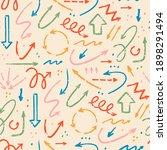 various doodle arrows.... | Shutterstock .eps vector #1898291494
