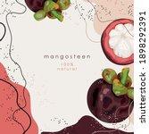 stylized mangosteen on an... | Shutterstock .eps vector #1898292391