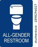 all gender bathroom sign. white ...   Shutterstock .eps vector #1898296027