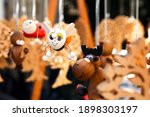 Colored Wooden Souvenir Toys On ...