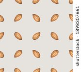 seamless pattern with almonds.... | Shutterstock .eps vector #1898307661
