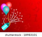 a twenty first birthday party... | Shutterstock . vector #18983101