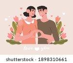 valentines day banner  flyer ... | Shutterstock .eps vector #1898310661