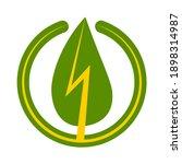 green energy sign icon  vector... | Shutterstock .eps vector #1898314987
