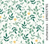 seamless botanical pattern with ... | Shutterstock .eps vector #1898319781