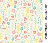 easter seamless pattern with... | Shutterstock .eps vector #1898324584