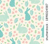 easter seamless pattern with... | Shutterstock .eps vector #1898324587