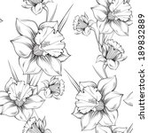 Black White Floral Vector...