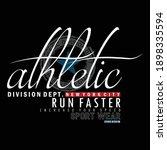 sport athletic stylish slogan...   Shutterstock .eps vector #1898335594