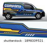 delivery van vector design. car ... | Shutterstock .eps vector #1898339521