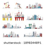 industrial buildings and... | Shutterstock .eps vector #1898344891