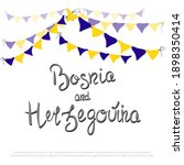 independence day of bosnia and... | Shutterstock .eps vector #1898350414