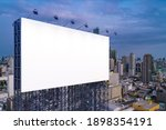 Blank White Road Billboard With ...
