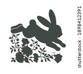floral running bunny... | Shutterstock .eps vector #1898412391