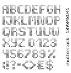 grey cross stitched english... | Shutterstock .eps vector #189848045