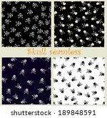 four skull seamlesses. vector...   Shutterstock .eps vector #189848591