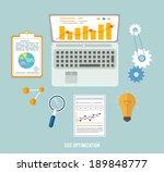 web design objects  seo... | Shutterstock .eps vector #189848777