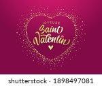 joyeuse saint valentin french... | Shutterstock .eps vector #1898497081