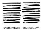 collection of long black brush... | Shutterstock .eps vector #1898502694